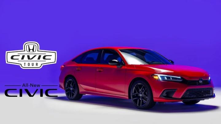 全新2022 Honda Civic,在虚拟与现实中结合呈现
